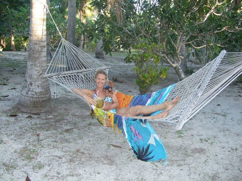 Coconut in that hammock